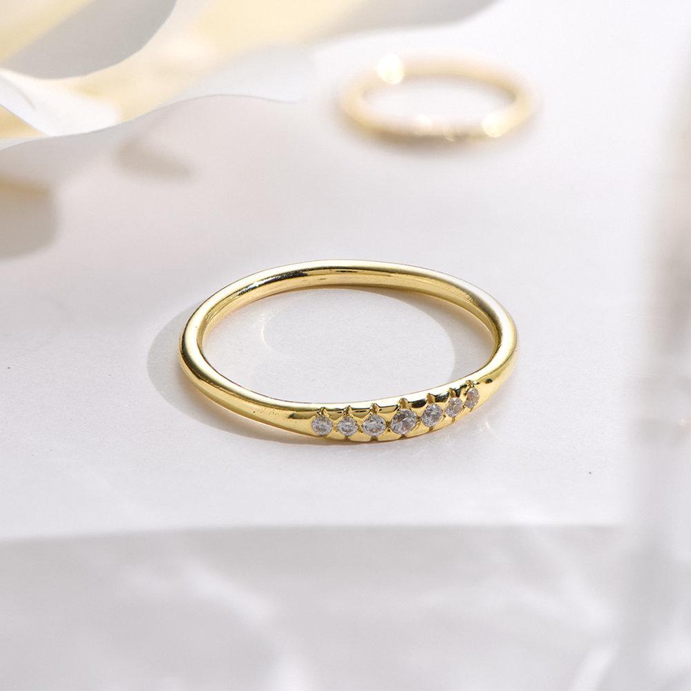Darleen Diamond Ring - Gold Vermeil - 2