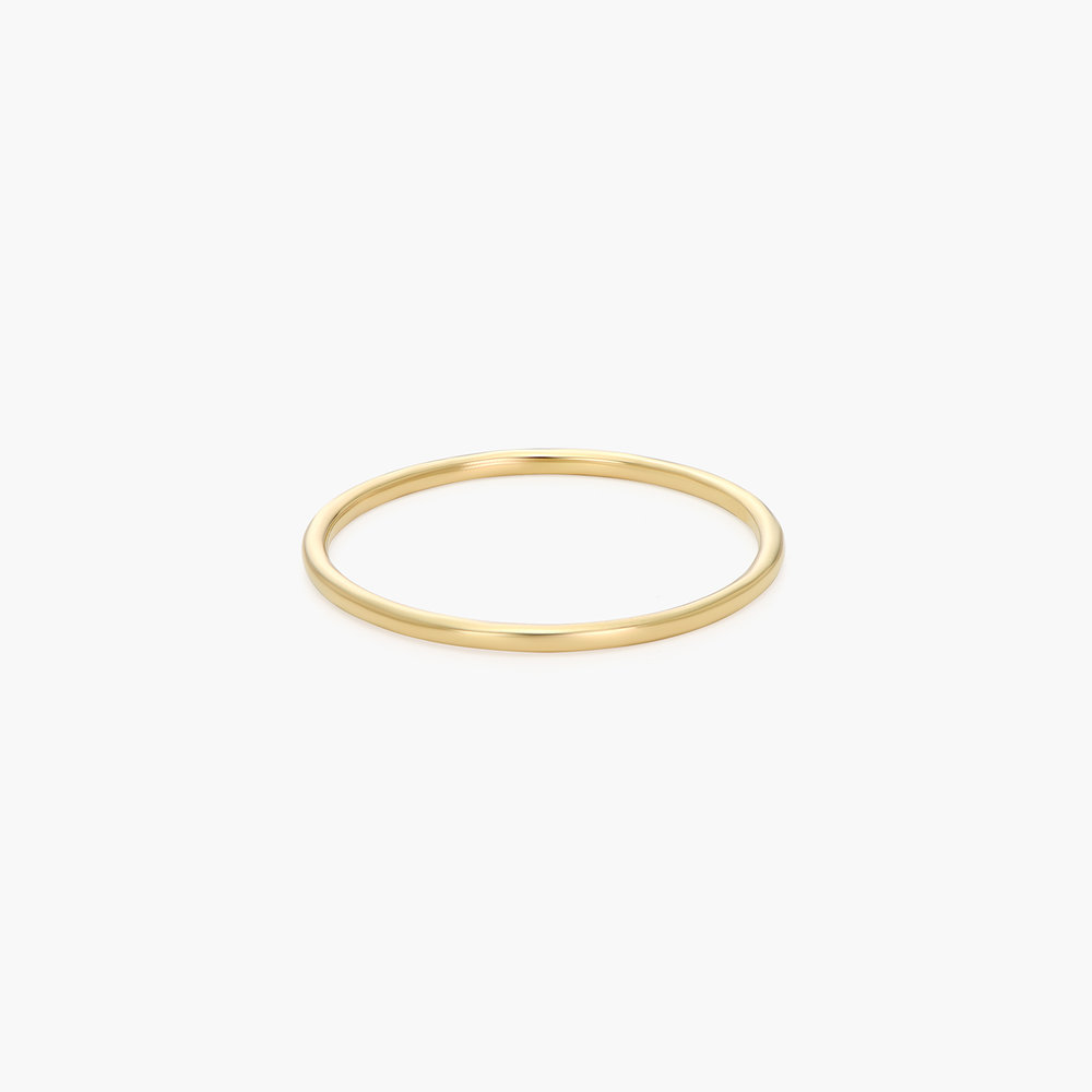 Smooth Hailey Stackable Ring - 14K Gold