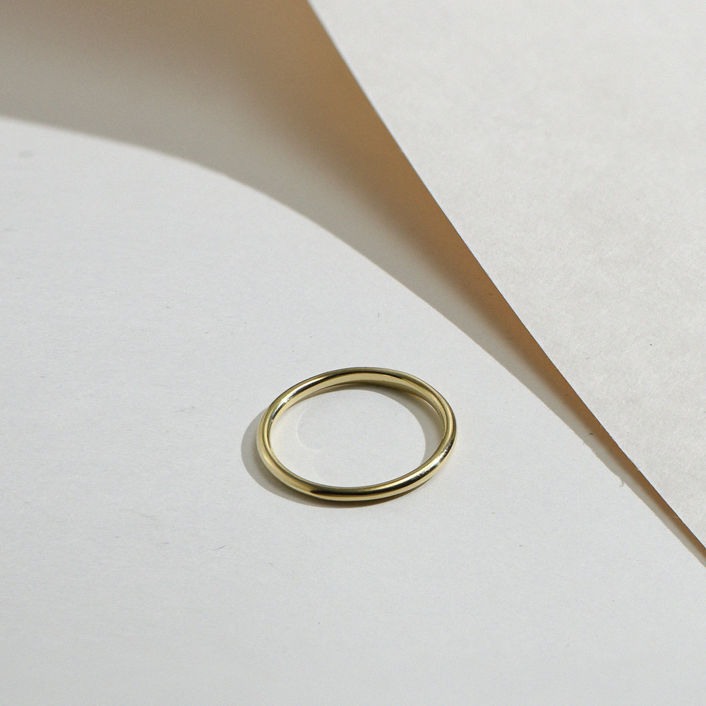 Smooth Hailey Stackable Ring - 14K Solid Gold - 2