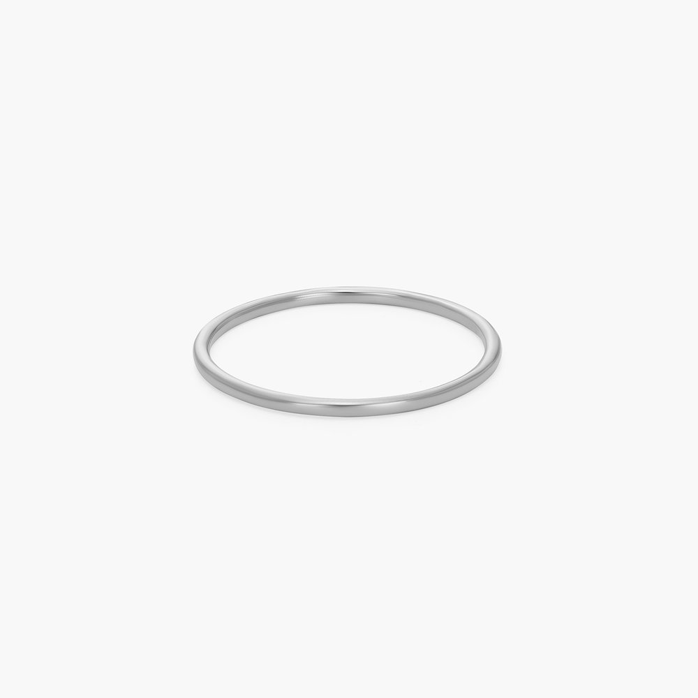 Smooth Hailey Stackable Ring - Silver