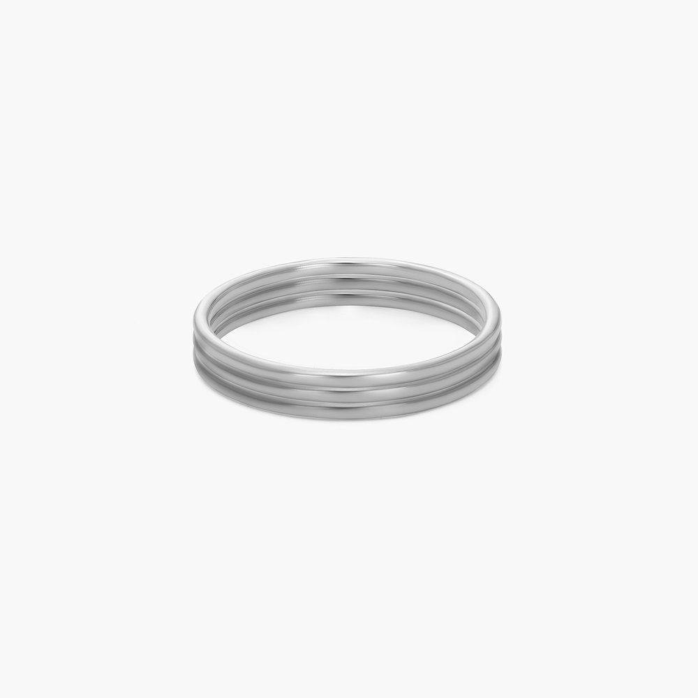 Smooth Hailey Stackable Ring - Silver - 1