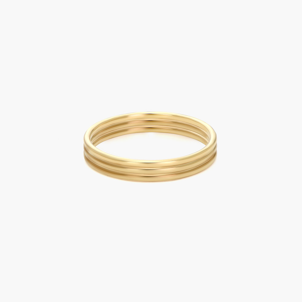Smooth Hailey Stackable Ring - Gold Plated - 1