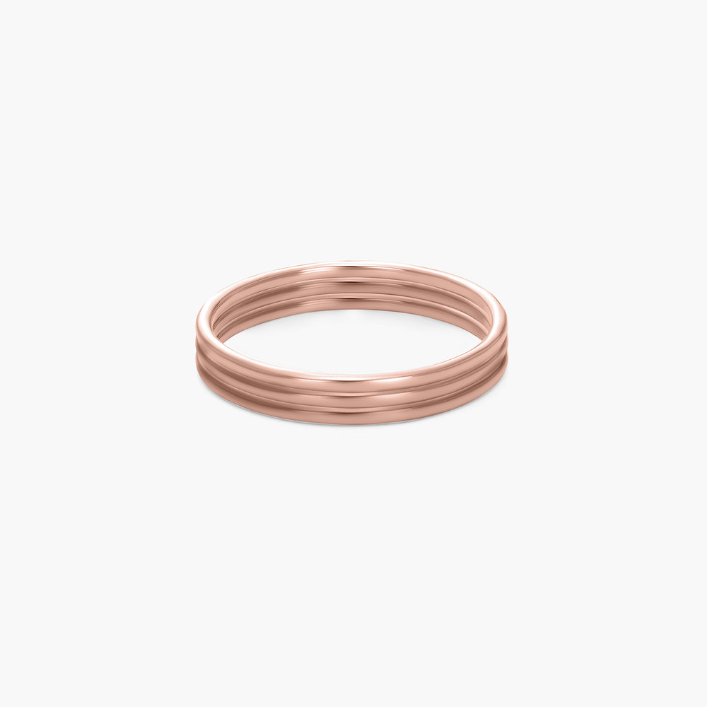 Smooth Hailey Stackable Ring - Rose Gold Plated - 1