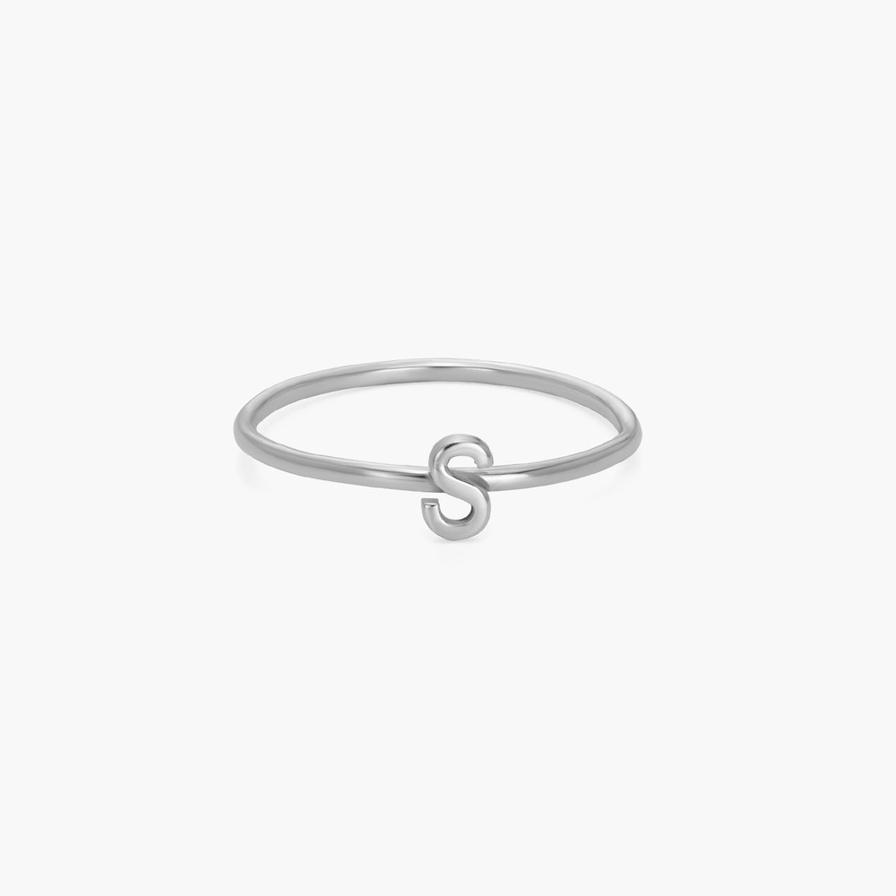 Stackable Inez Initial Ring - Silver - 1