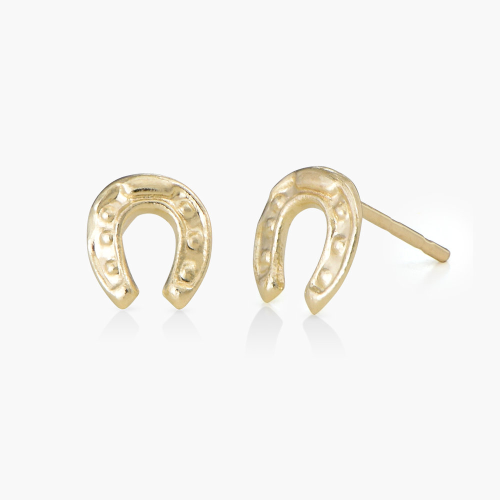 Horseshoe Earrings - 14K Gold