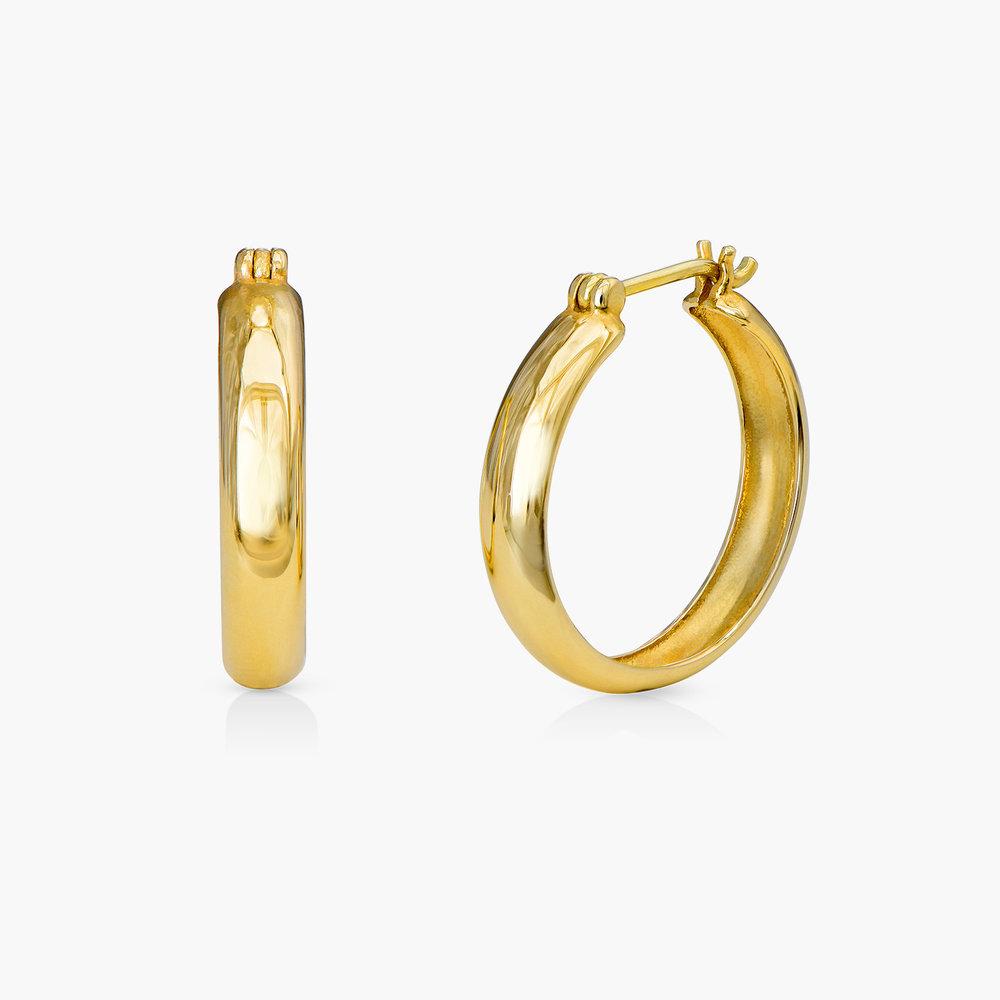 Dainty Hoop Earrings - 10K Gold