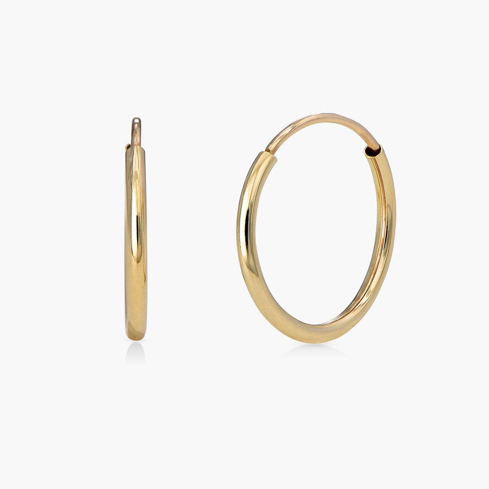 Huggie Hoop Earrings - 10K Gold