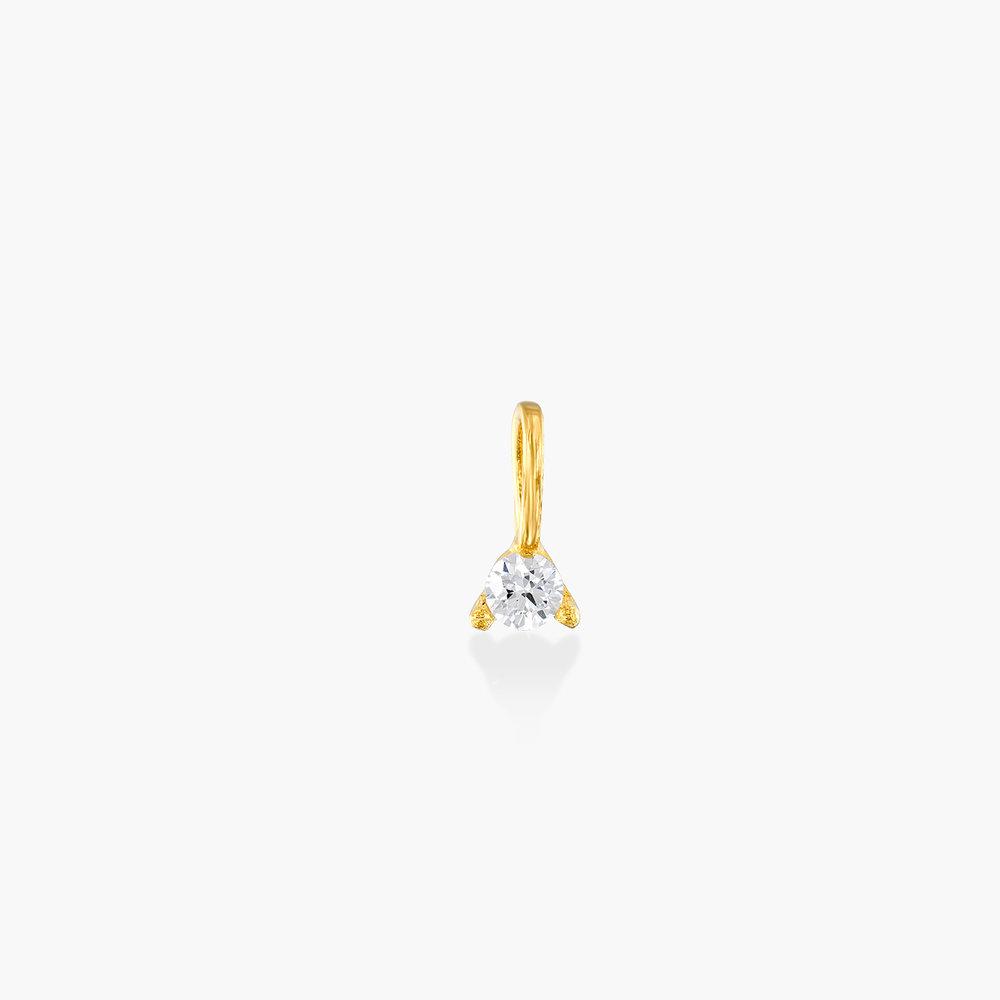 Diamond Charm - 14K Yellow Gold