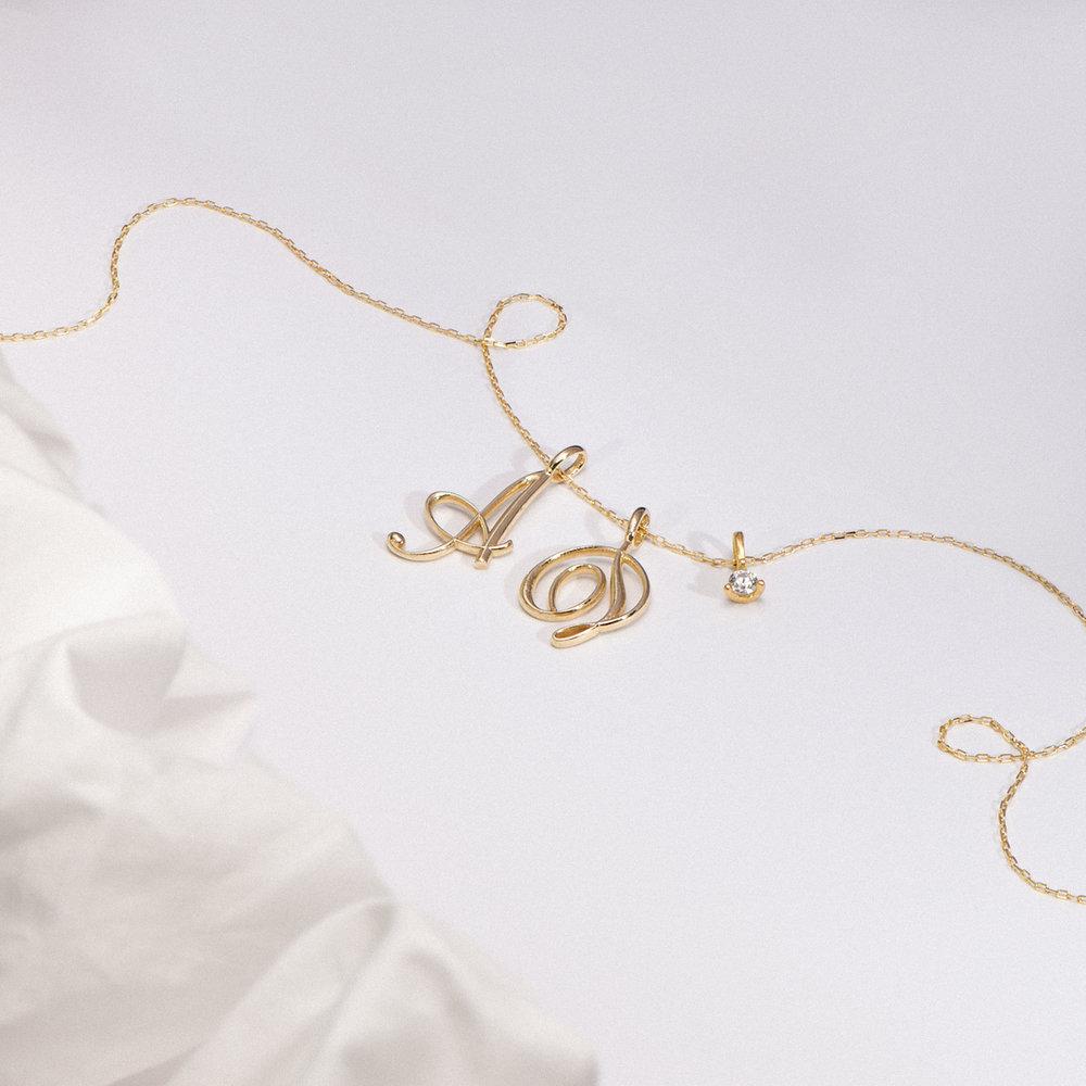 Diamond Charm - 14K Yellow Gold - 1
