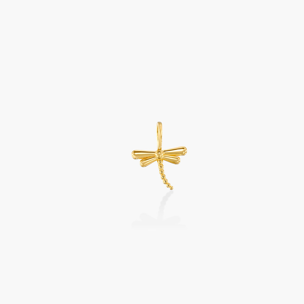 Dragonfly Charm - 14K Yellow Gold