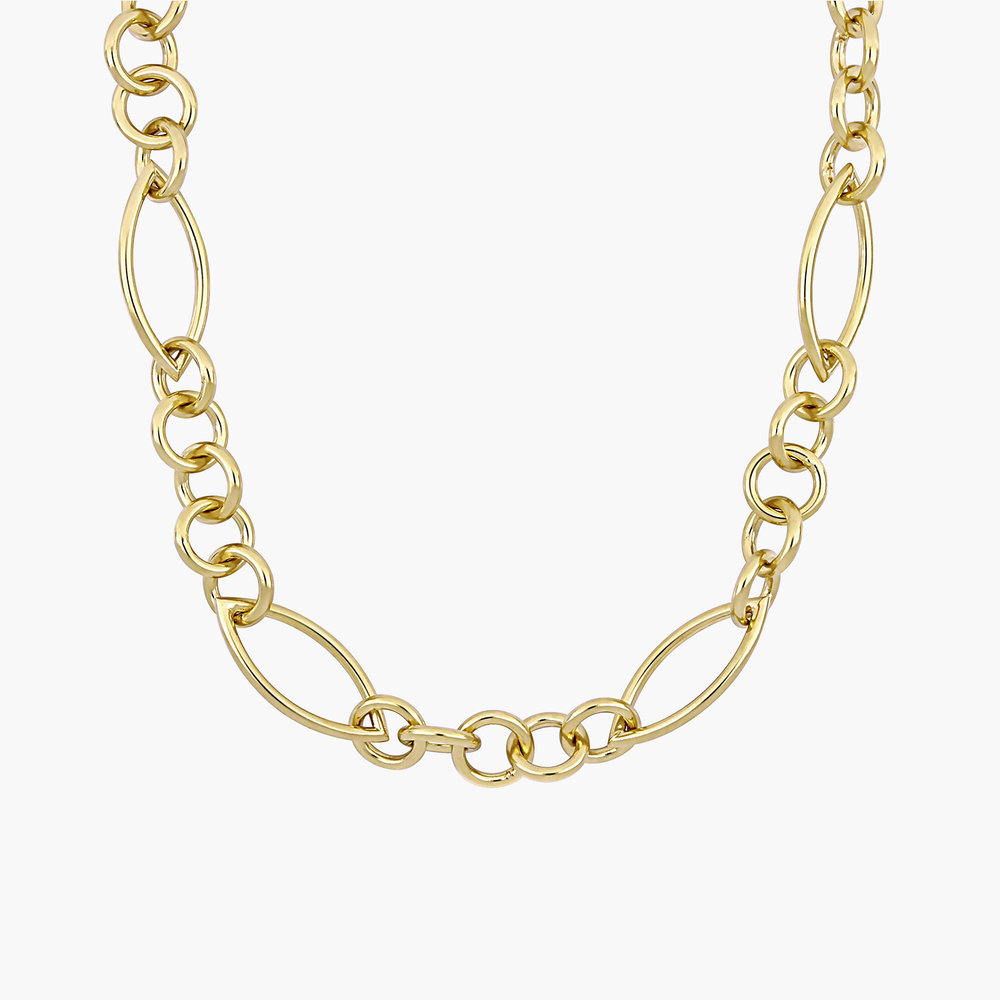 Reyna Link Chain Necklace - Gold Plating