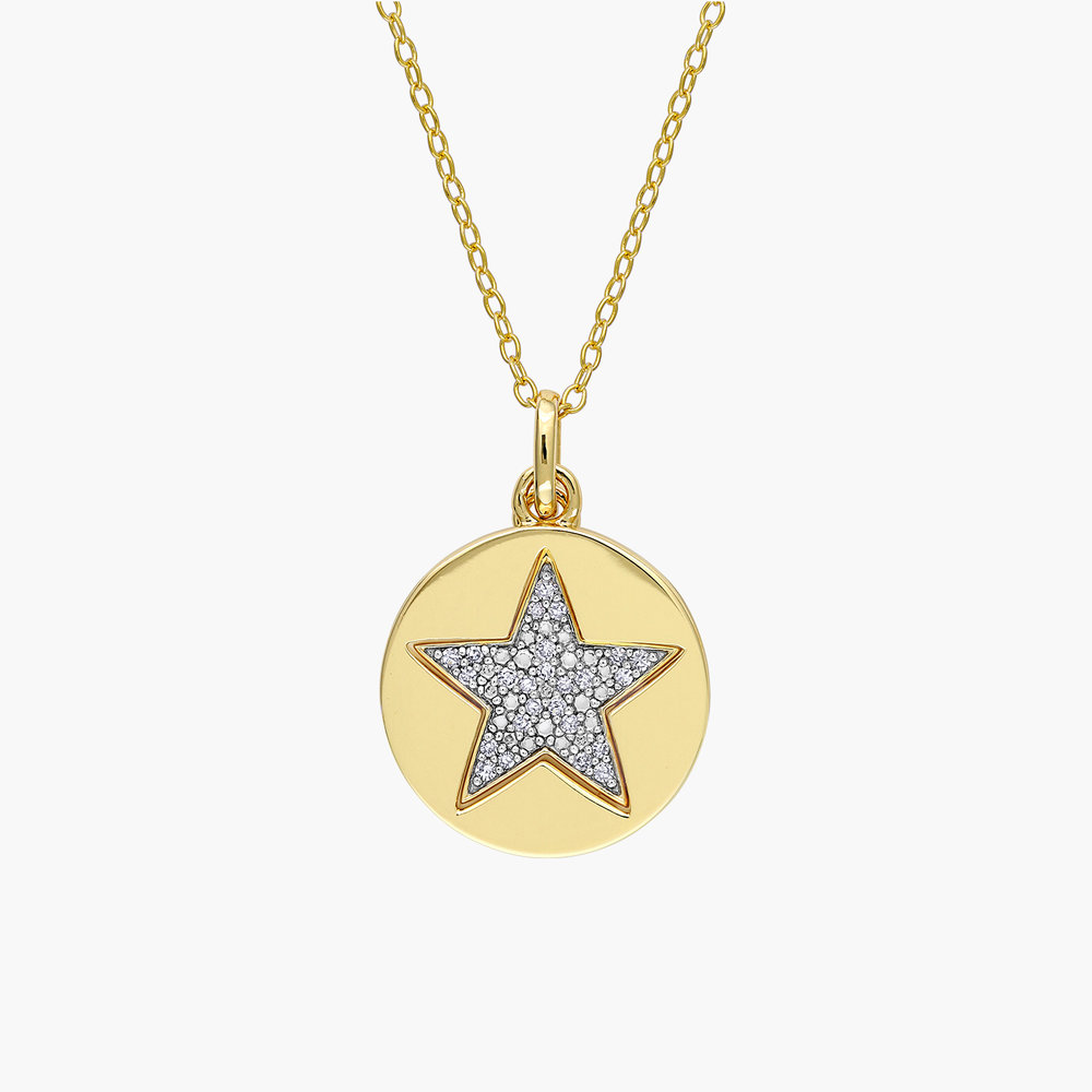 Mystic Diamond Star Necklace - Gold Plating - 1