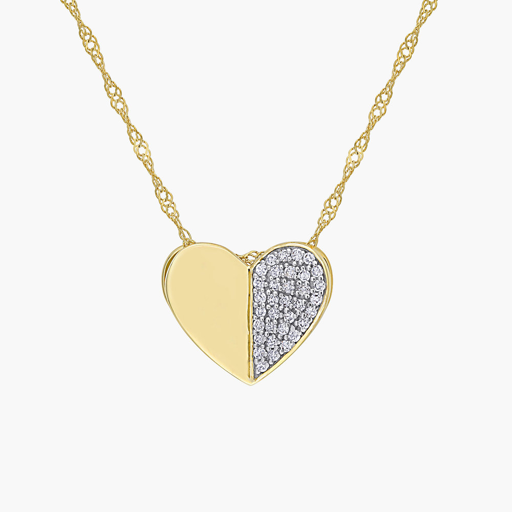 Eloise Diamond Heart Necklace - 10K Yellow Gold