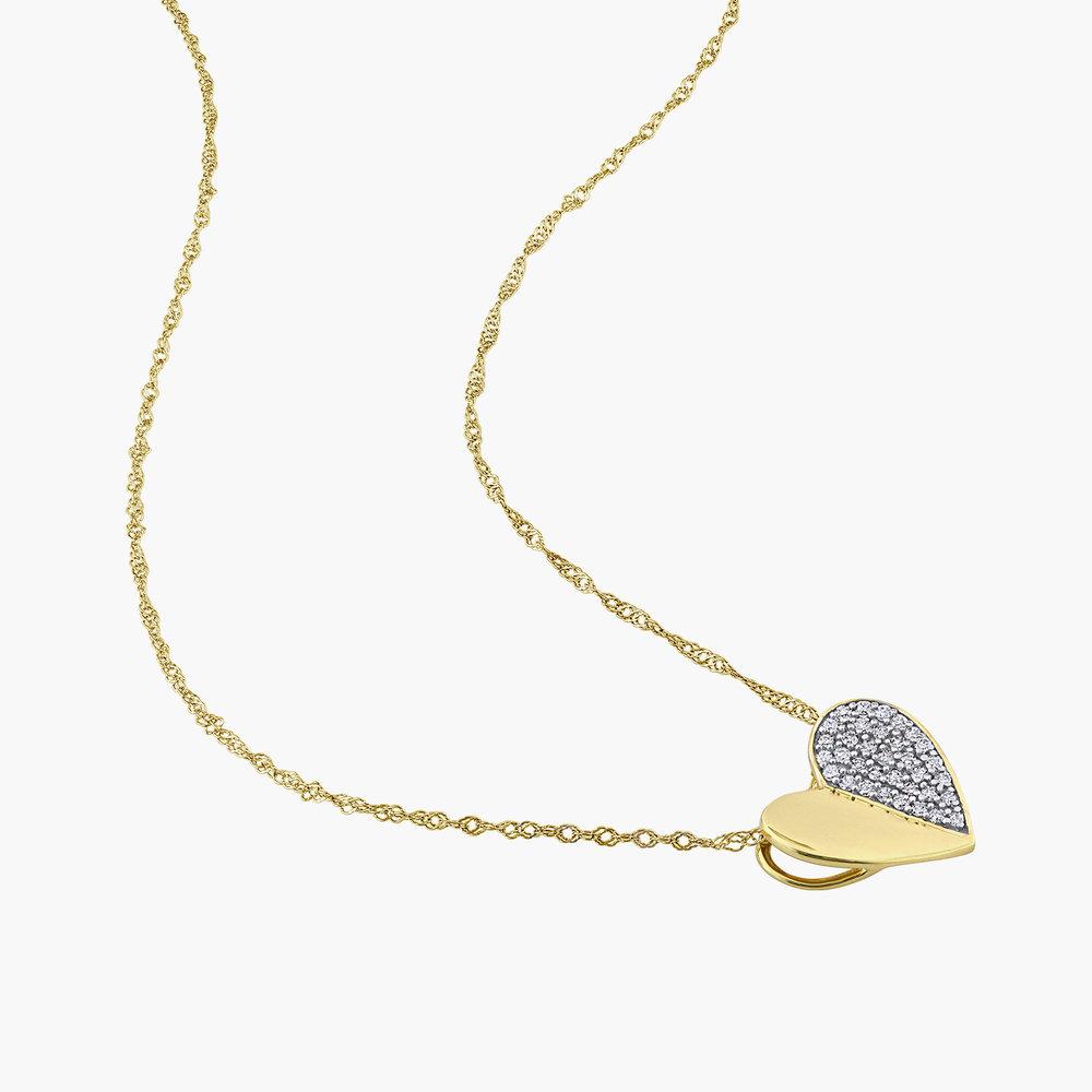 Eloise Diamond Heart Necklace - 10K Yellow Gold - 1