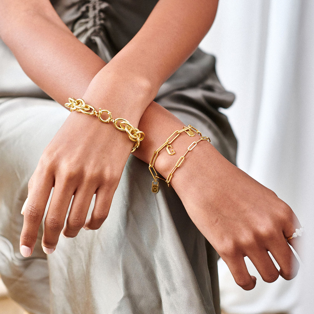Haisley Link Bracelet - Gold Plating - 2