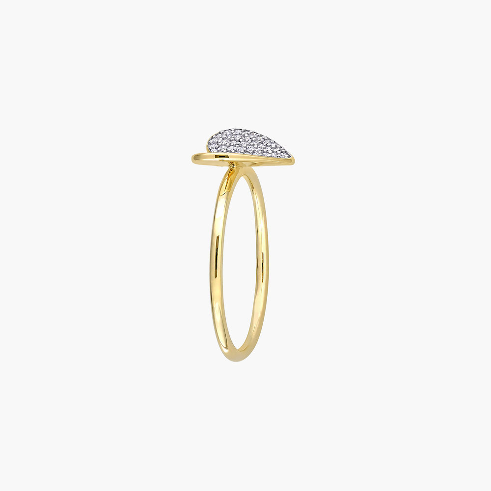 Eloise Diamond Heart Ring - 10K Yellow Gold - 1