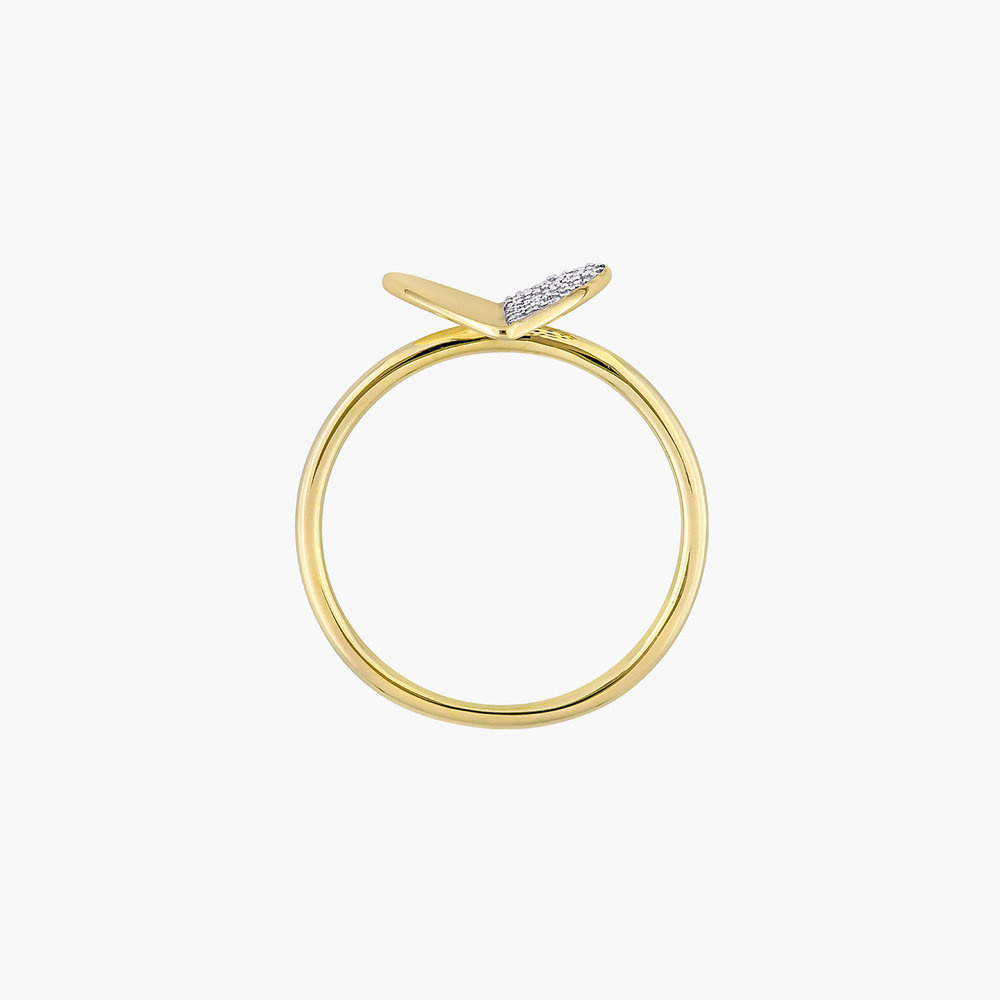 Eloise Diamond Heart Ring - 10K Yellow Gold - 2