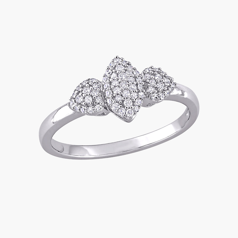 Charlotte Diamond Marquise Ring - Sterling Silver