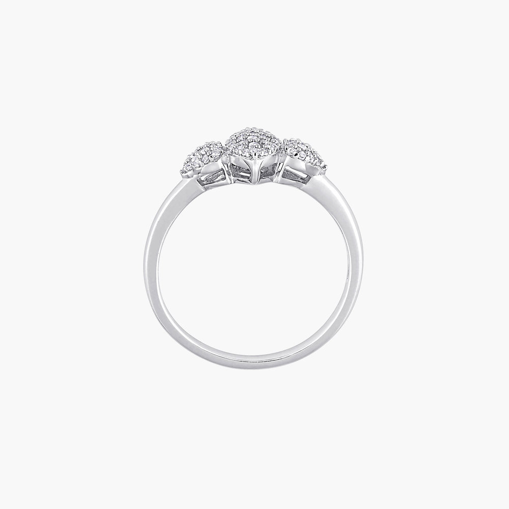 Charlotte Diamond Marquise Ring - Sterling Silver - 2