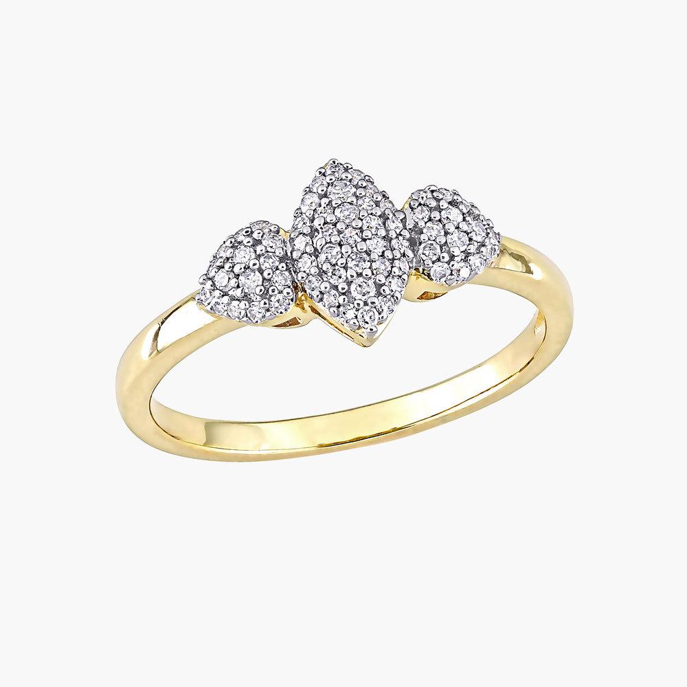 Charlotte Diamond Marquise Ring - Gold Plating