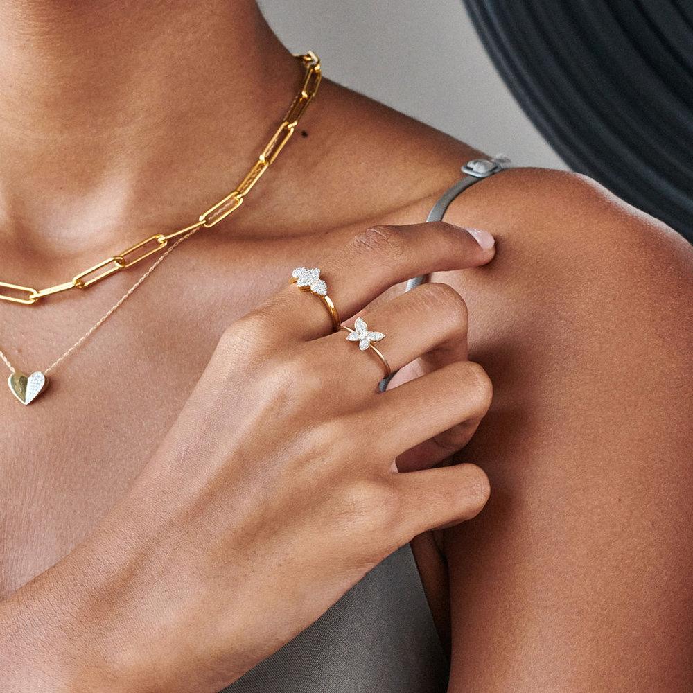 Charlotte Diamond Marquise Ring - Gold Plating - 3