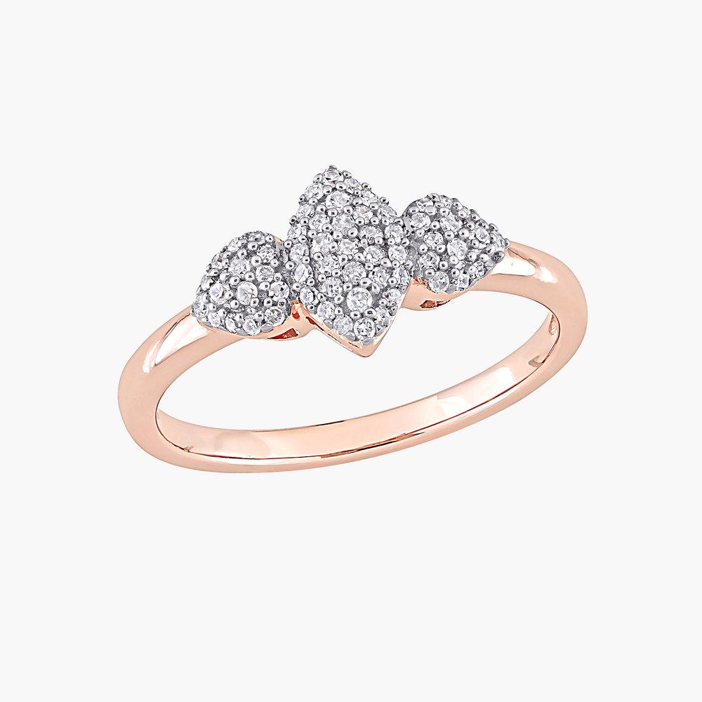 Charlotte Diamond Marquise Ring - Rose Gold Plating