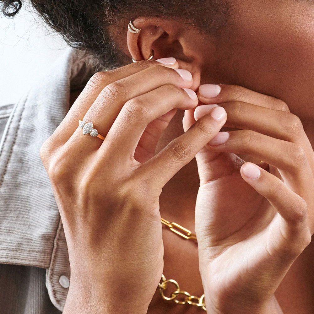 Charlotte Diamond Marquise Ring - Rose Gold Plating - 3