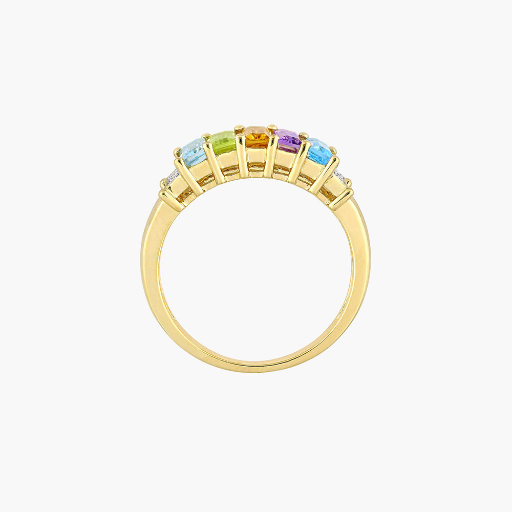 Belle Multi-Gemstone Baguette Ring - Gold Plating - 1