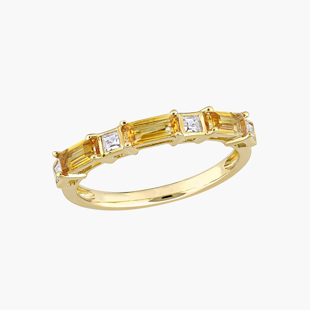 Amour Baguette Ring - 10K Yellow Gold