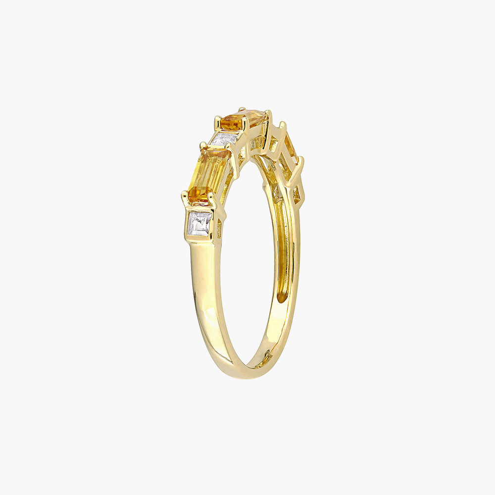 Amour Baguette Ring - 10K Yellow Gold - 1