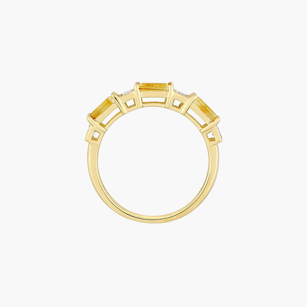 Amour Baguette Ring - 10K Yellow Gold - 2