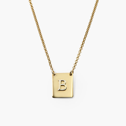 Pop Up Initial Necklace - Gold Plated product photo