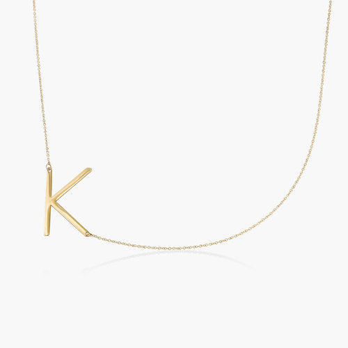 Initial Necklace - 14k Yellow Gold product photo