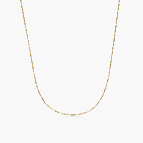 Twist Chain Necklace- 14K Yellow Gold product photo