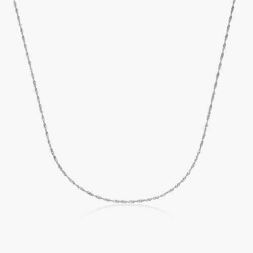 Twist Chain Necklace- 14K White Gold product photo