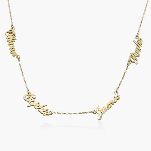 Multiple Name Necklace - 14k Yellow Gold product photo