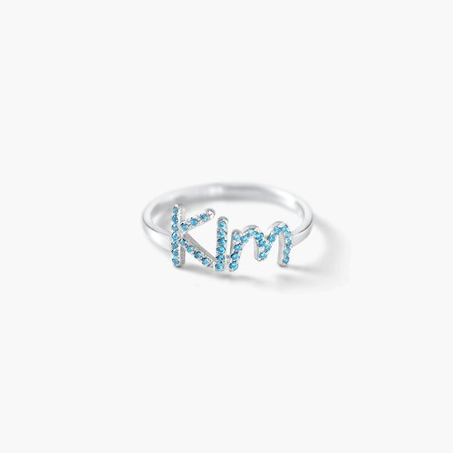 Pixie Name Ring with Cubic Zirconia - Silver product photo