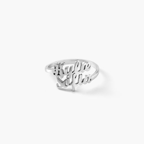 Two is Better Than One Name Ring - Silver product photo
