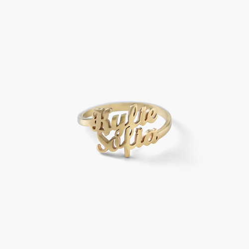 Two is Better Than One Name Ring - Gold Plated product photo