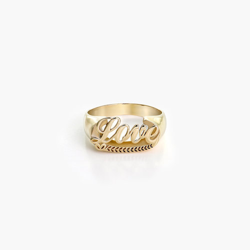 Throwback Name Ring - 10k Yellow Gold product photo