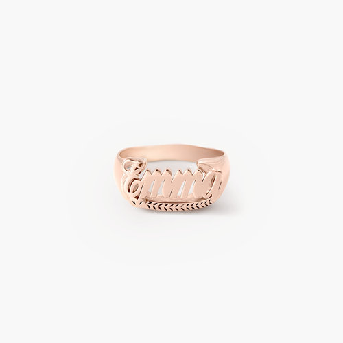 Throwback Name Ring - Rose Gold Plated product photo