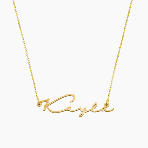 Mon Petit Name Necklace - 10k Gold product photo