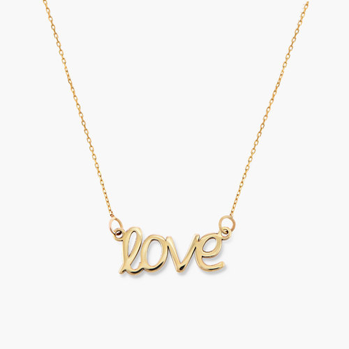 Pixie Name Necklace - 10k Gold product photo