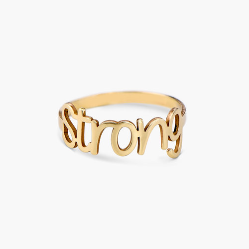 Pixie Name Ring - 10K Solid Gold product photo
