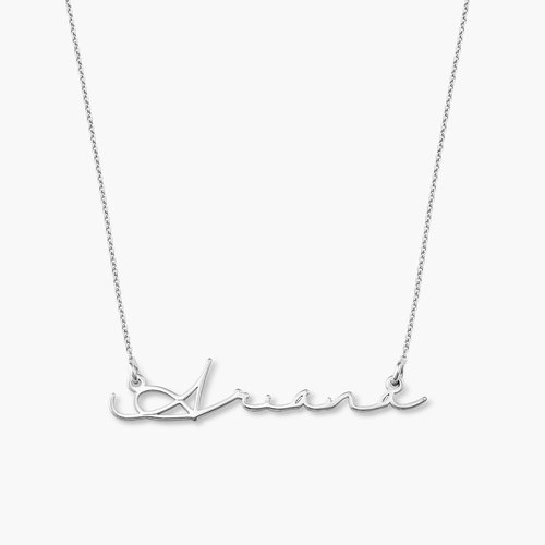 Mon Petit Name Necklace - Silver product photo