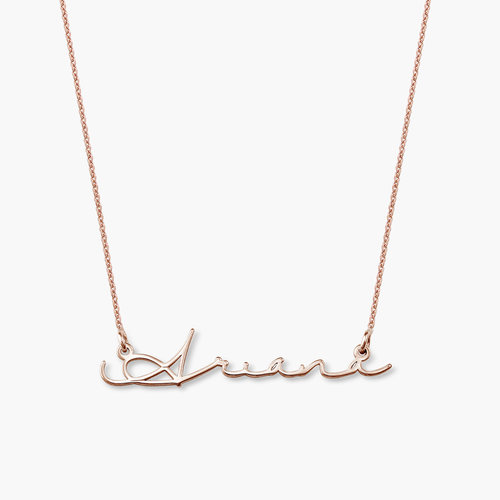 Mon Petit Name Necklace - Rose Gold Plated product photo