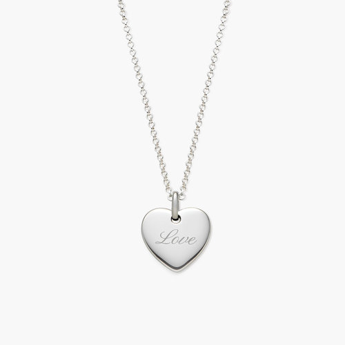 Luna Heart Necklace - Silver product photo