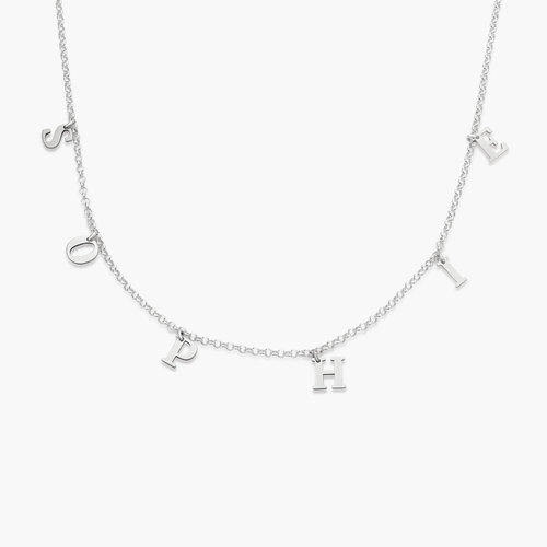 A to Z Name Choker - Silver product photo