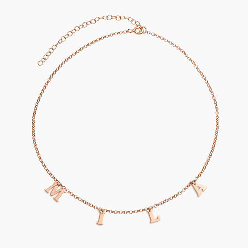 A to Z Name Choker - Rose Gold Plated product photo