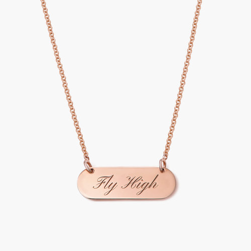 Rounded Bar Necklace - Rose Gold Plated product photo